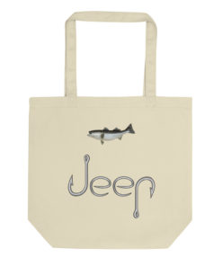 Jeep Hooks Logo Eco Tote Bag Tote Fishing