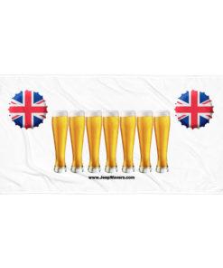 United Kingdom Beer Glasses Jeep Grill Towel Towels Beer