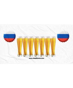 Russia Beer Glasses Jeep Grill Towel Towels Beer
