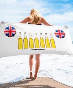 United Kingdom Beer Bottles Jeep Grill Towel Towels Beer