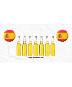 Spain Beer Bottles Jeep Grill Towel Towels Beer