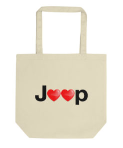 Jeep Hearts Logo Eco Tote Bag
