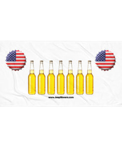 USA Beer Bottles Jeep Grill Towel