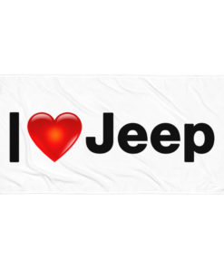 I Love Jeep Towel
