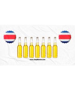 Costa Rica Beer Bottles Jeep Grill Towel Towels Beer