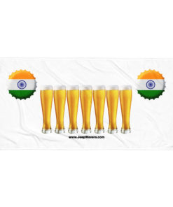 India Beer Glasses Jeep Grill Towel Towels Beer