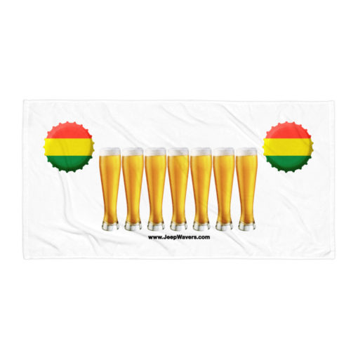 Bolivia Beer Glasses Jeep Grill Towel Towels Beer