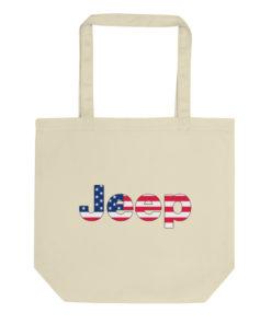 Jeep USA Flag Logo Eco Tote Bag Tote USA