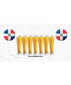 Dominican Republic Beer Glasses Jeep Grill Towel Towels Beer