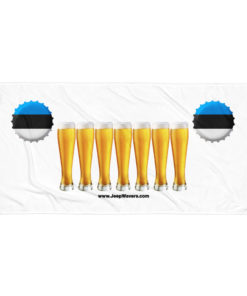 Estonia Beer Glasses Jeep Grill Towel Towels Beer