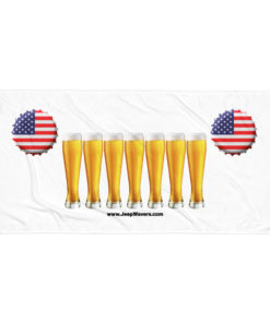 USA Beer Glasses Jeep Grill Towel
