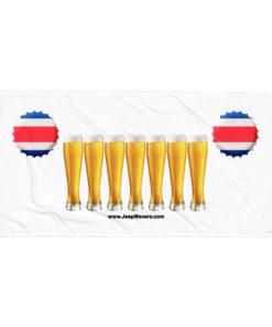 Costa Rica Beer Glasses Jeep Grill Towel Towels Beer