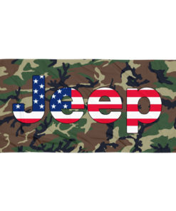 Jeep USA Flag Camouflage Towel