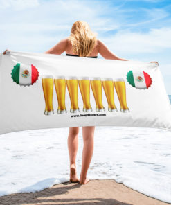 Mexico Beer Glasses Jeep Grill Towel Towels Beer
