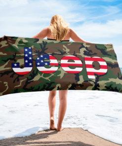 Jeep USA Flag Camouflage Towel Towels Camouflage