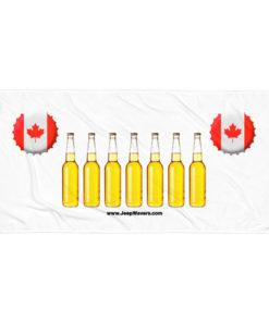 Canada Beer Bottles Jeep Grill Towel Towels Beer