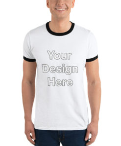 YOUR Design on this Men's Ringer Tee | Anvil 988 For Mens