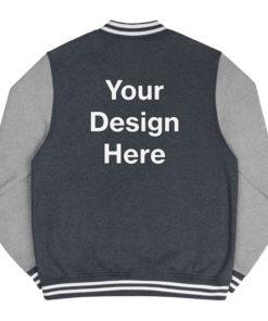 YOUR Design on this Men's Letterman Jacket For Mens