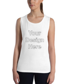 YOUR Design on this Women's Muscle Tank | Bella + Canvas 8803 For Womens