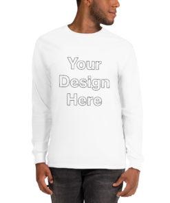 YOUR Design on this Men's Long Sleeve Shirt | Gildan 2400 For Mens