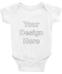 YOUR Design on this Baby Short Sleeve Bodysuit | Rabbit Skins 4400 For Kids & Youth