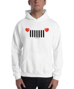 Jeep Hearts Grill Unisex Hoodie Hoodies Hearts