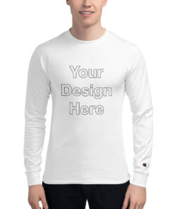 YOUR Design on this Men's Champion Long Sleeve Shirt For Mens