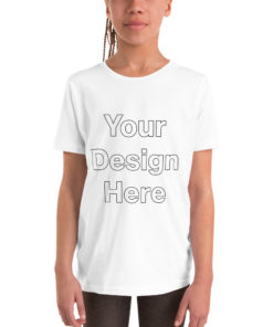 YOUR Design on this Youth Short Sleeve T-Shirt For Kids & Youth