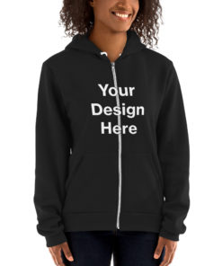 YOUR Design on this Unisex Zip Up Hoodie | American Apparel F497W Unisex