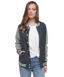 YOUR Design on this Women's Letterman Jacket For Womens