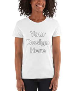 YOUR Design on this Women's Loose Crew Neck Tee | Gildan 5000L For Womens