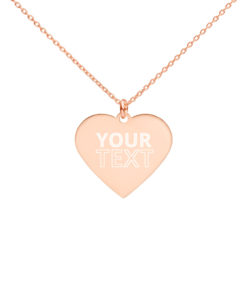 YOUR Text on this Engraved Silver Heart Necklace Jewelry