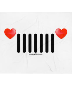 Jeep Hearts Grill Throw Blanket Blankets Hearts