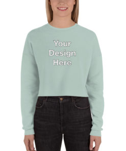 YOUR Design on this Women's Cropped Sweatshirt | Bella + Canvas 7503 For Womens