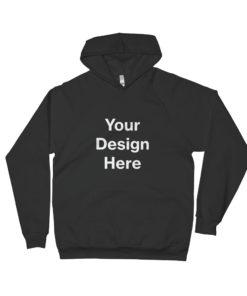 YOUR Design on this Unisex Raglan Hoodie | American Apparel 5495W Unisex