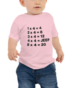 Jeep Math Baby Jersey Short Sleeve Tee T-Shirts Math