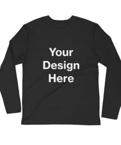 YOUR Design on this Men's Fitted Long Sleeve Shirt | Next Level 3601 For Mens