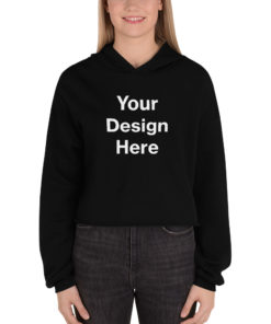YOUR Design on this Women's Cropped Hoodie | Bella + Canvas 7502 For Womens