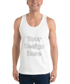 YOUR Design on this Unisex Jersey Tank Top   American Apparel 2408 Unisex