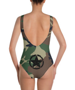 Jeep Rope Logo Military Star Camouflage One-Piece Swimsuit Swimsuits Army Star
