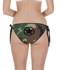 Jeep Camo Army Star Bikini Bottom Bikini Bottom Army Star