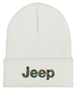 Jeep Camo Logo Cuffed Beanie Beanies Camouflage