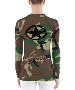 Jeep Rope Logo Military Star Camouflage Women's Rash Guard Rash Guards Army Star