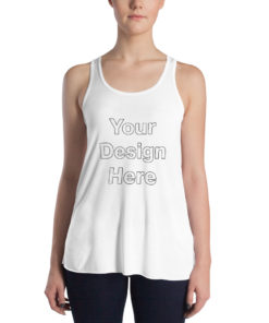 YOUR Design on this Women's Flowy Racerback Tank | Bella + Canvas 8800 For Womens
