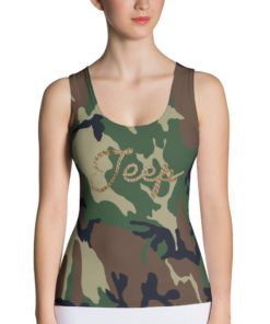 Jeep Rope Logo Military Star Camouflage Sublimation Cut & Sew Tank Top Tanks Army Star