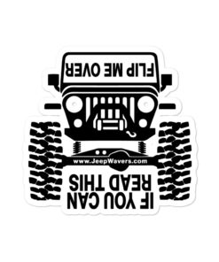 Jeep – If You Can Read This, Flip Me Over! Bubble-free stickers Stickers Other