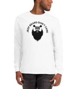 Jeep Beard Don't Care Men's Long Sleeve Shirt Long Sleeve T-Shirts Beard