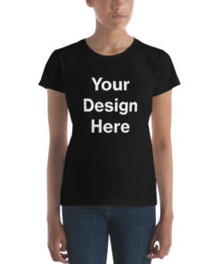 YOUR Design on this Women's Fashion Fit short sleeve T-Shirt | Anvil 880 For Womens