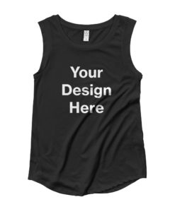 YOUR Design on this Women's Cap Sleeve T-Shirt | Alternative 4013 For Womens