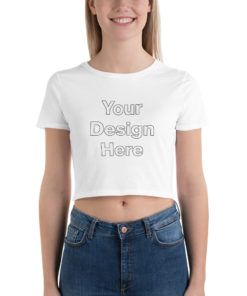 YOUR Design on this Women's Crop Tee | Bella + Canvas 6681 For Womens